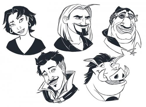 Cartoon Character Headshots